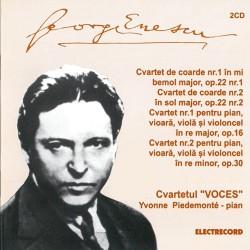 George Enescu - Cvartet de coarde nr. 1 &2 / Cvartet pentru pian nr. 1&2 - 2 CD