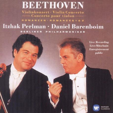 Ludwig van Beethoven - Itzhak Perlman - Violin Concerto & 2 Romances - CD