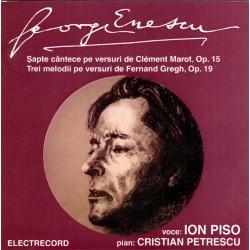 George Enescu - Sapte cantece pe versuri de Clement Marot - CD