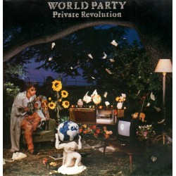 World Party - Private Revolution - Cut-out vinyl LP
