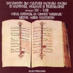 Madrigal - Documente Ale Culturii Muzicale Vocale In Muntenia, Moldova Si Transilvania (Secolele XIV-XVIII) - CD