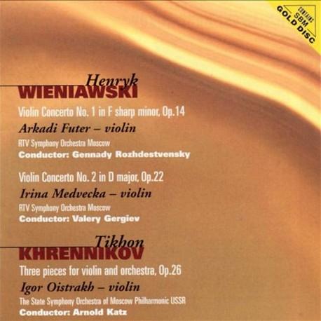 Henryk Wieniawski / Tikhon Khrennikov - Violin Concerto No.1,2 / Three pieces for violin & orchestra - SBM Gold CD