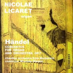 Nicolae Licăreţ - Handel - Concerte pentru orgă şi orchestră - CD