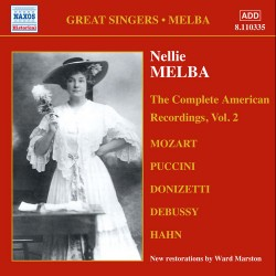 Nellie Melba - The Complete American Recordings Vol.2 - CD