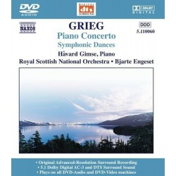Edvard Grieg - Piano Concerto / Symphonic Dances - DVDA
