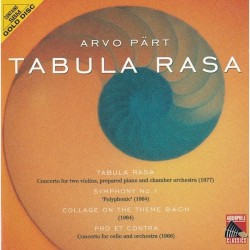 Arvo Part - Tabula Rasa - CD