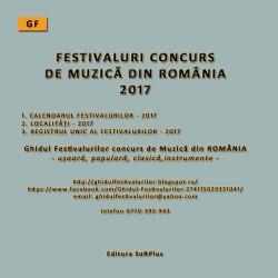 GF - CALENDARUL FESTIVALURILOR CONCURS MUZICĂ - 2017 - CD