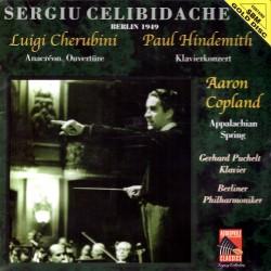 Sergiu Celibidache conducts Cherubini / Hindemith / Copland - Anacreon / Klavierkonzert / Appalachian Spring - SBM gold CD