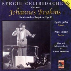 Sergiu Celibidache Conducts Brahms - Ein Deutsches Requiem Op.45 - SBM Gold CD