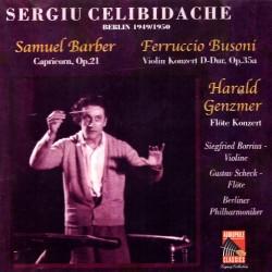 Sergiu Celibidache Conducts Barber / Busoni / Genzmer - Capricorn / Violin Konzert / Flote Konzert - SBM CD