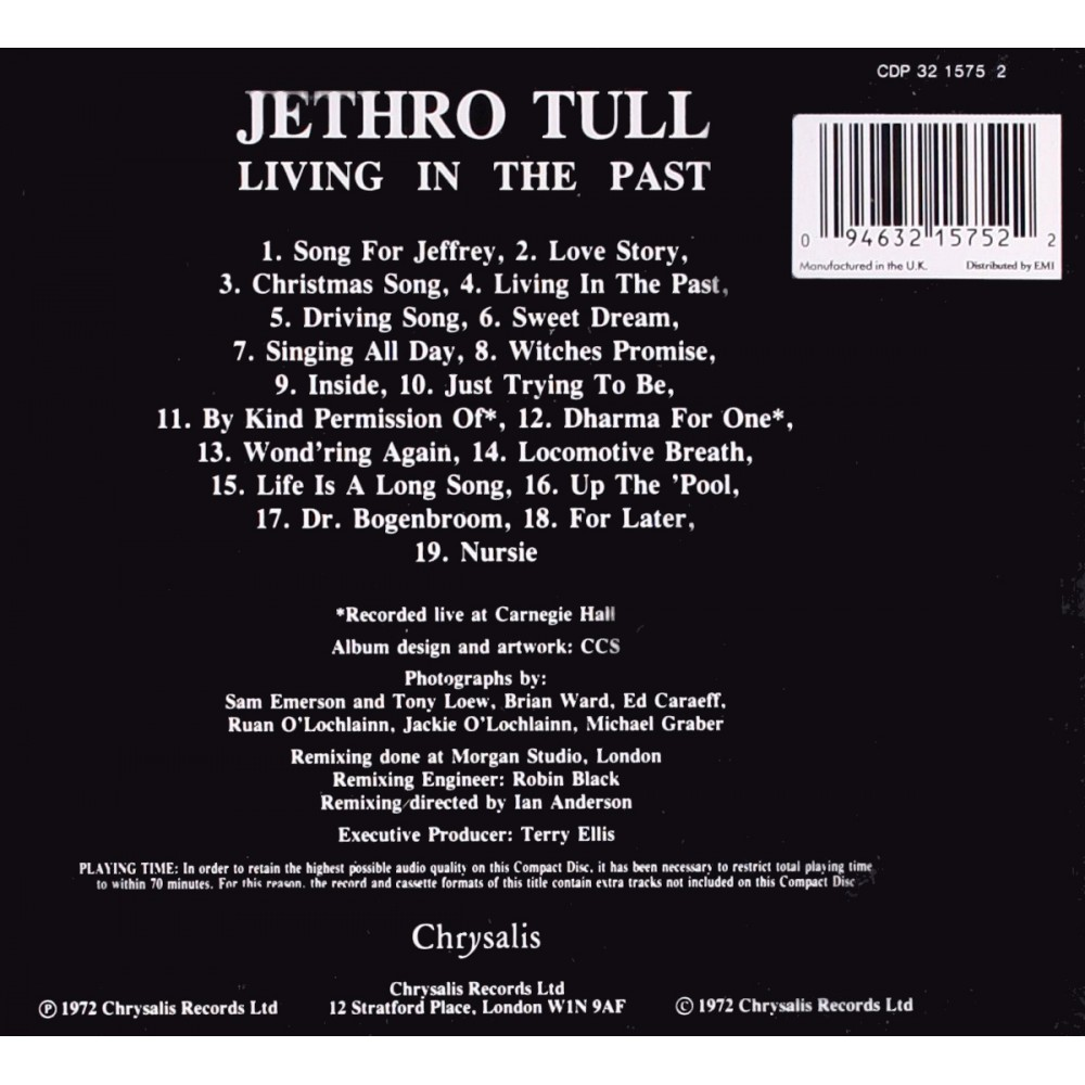 Jethro Tull - Living in the Past - CD - MyCD