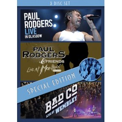 Paul Rodgers / Bad Company - Live In Glasgow / Montreux / Wembley - 3 DVD