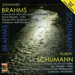 Johannes Brahms / Robert Schumann - Concerto For Violin / Fantasie in C major - SBM Gold CD
