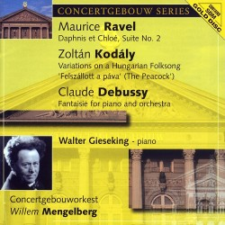 Maurice Ravel, Zoltán Kodály, Claude Debussy - Daphnis Et Chloe a.o. - SBM Gold CD