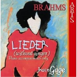 Johannes Brahms - Lieder (without singer) - CD