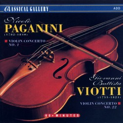 Niccolo Paganini / Giovanni Battista Viotti - Violin Concerto No.1 & 22 - CD