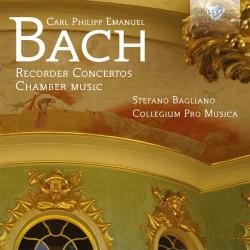 Carl Philipp Emanuel Bach - Recorder Concertos - CD