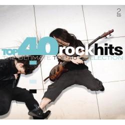 V/A - Top 40 Rock Hits - 2 CD Digipack