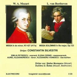W.A. Mozart - Missa KV 427/ Beethoven - Missa Solemnis - 3 CD