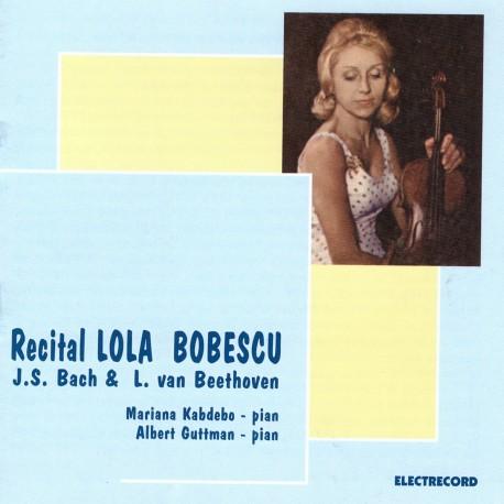 Lola Bobescu - Recital vioara - J.S. Bach & Ludwig van Beethoven - CD
