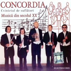 Cvintetul de suflatori Concordia - Muzica din sec. XX - CD