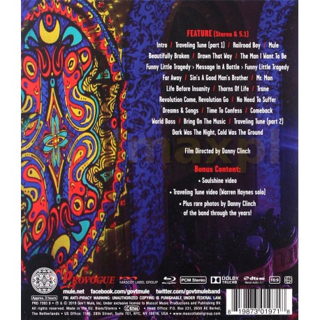 Gov't Mule - Bring On The Music - Blu-ray